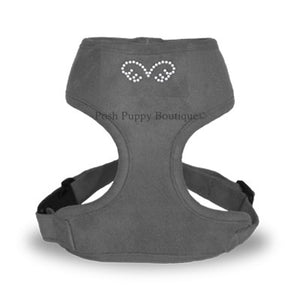 PuppyAngel DU ANGIONE Suede Harness (Regular Soft)- Gray