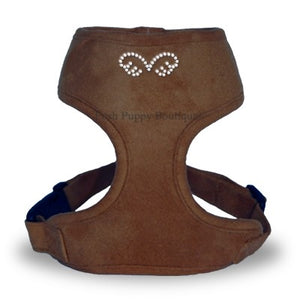 PuppyAngel DU ANGIONE Suede Harness (Regular Soft)-Brown
