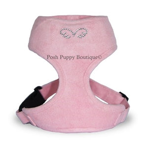 Puppy Angel DU ANGIONE Suede Harness (Regular Soft)-Light Pink