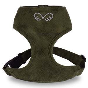PuppyAngel DU ANGIONE Suede Harness (Regular Soft)- Green