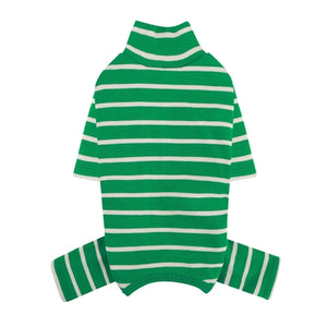 PuppyAngel High Neck Sleeve Stripes Overall - Green