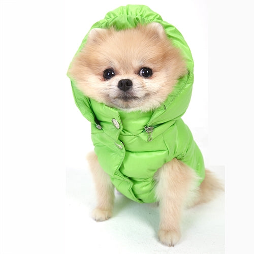 PuppyAngel Faux Down Padding Vest - Lime Green