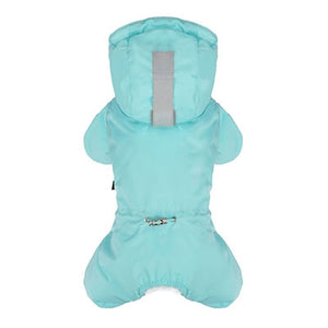 PuppyAngel MAGAGIO Snow Hood Padding Overalls for Unisex - Fresh Blue