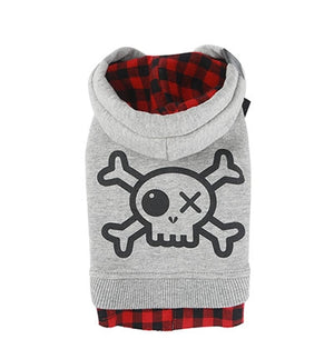 Do Not Touch Pirate Sleeveless Hoodie - Gray