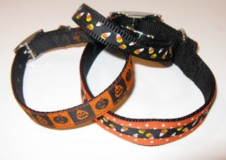Halloween Ribbon Trimmed Collars in Many Colors