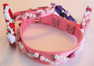 Roses & Pearls Dog Collar
