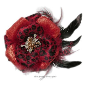 Julia Collar Flower Slider - Red