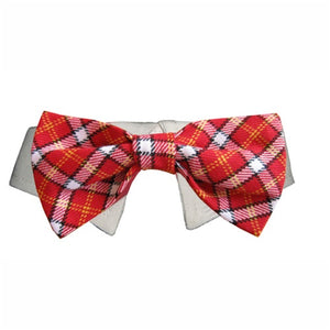 Bow Tie Collar - Red Checker
