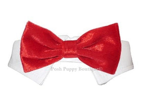 Valentino Velvet Bow Tie Collar - Red