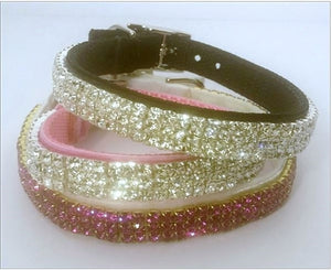 Platinum Diamonds Galore Velvet Collar - Many Colors