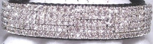 Platinum Diamonds Galore Velvet Collar - 1 inch