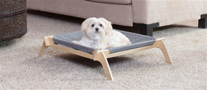 Reversible Pet Lounger in Spots-Crosses