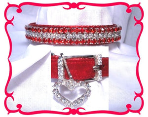 Red Velvet & Diamonds Collar