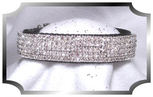Diamond Sparkle Velvet Collar