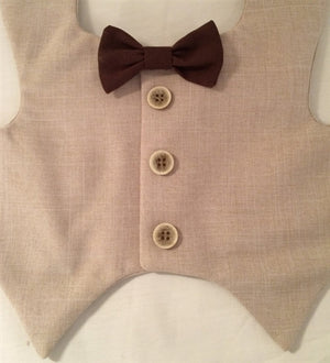 Tuxedo Vest - Tan with Tan Buttons