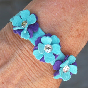 Susan Lanci Violet Human Bracelet - Matching Dog Collar - in Bimini Blue only