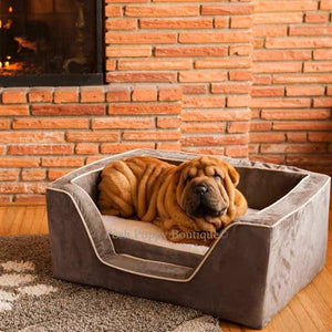Luxury Square Dog Bed With Memory Foam - Many Colors - Posh Puppy Boutique