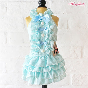 Wooflink Like A Butterfly Dress in Blue