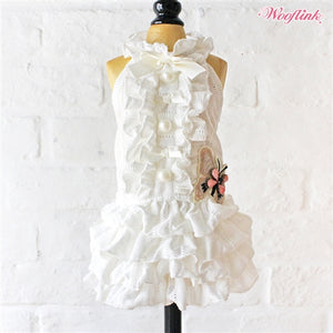 Wooflink Like A Butterfly Dress in White