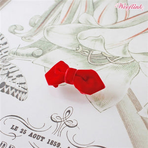 Wooflink Mini Velvet Bow - Red