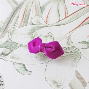 Wooflink Mini Velvet Bow - Purple