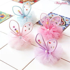 Wooflink Little Bunny Fairy Hair Bow - Many Colors