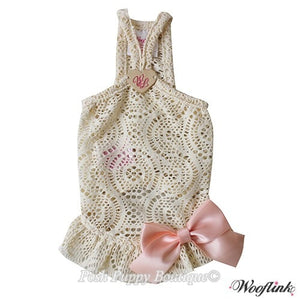 Wooflink Fun Summertime Mini Dress Top- CREAM