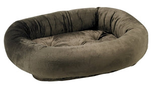 Brown Teddy Fur Donut Bed