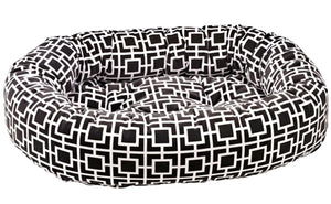 Courtyard Grey Microvelvet Donut Bed
