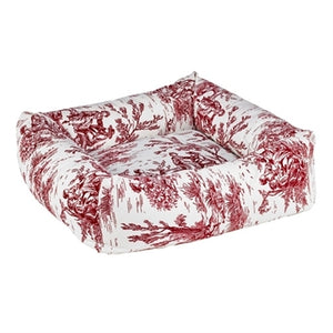 Raspberry Toile Microvelvet Dutchie Bed
