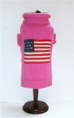 Patriotic Pup Sweater in Pink