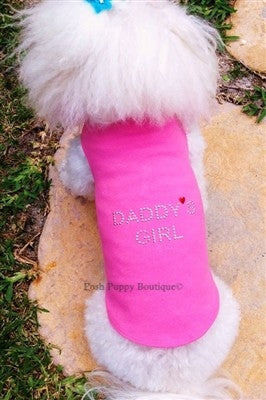 Daddy's Girl Rhinestone Tank Top- Three Colors