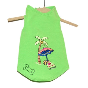 Day at the Beach Tank in Lime