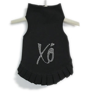 Hugs & Kisses Flounce Dress in Black