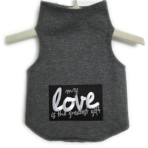 My Love Is The Greatest Gift Tank in Dark Heather Grey