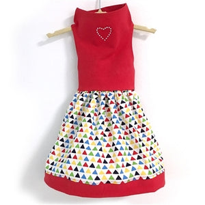Red Top - Triangle Print Skirt