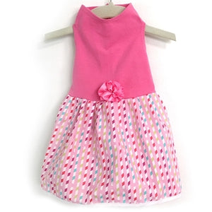 Top with Multi Ribbon Skirt in Pink