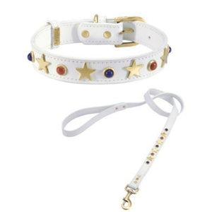 American Dog Collar- White