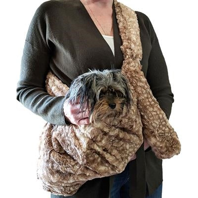 Adjustable Furbaby Sling Bag in Fawn