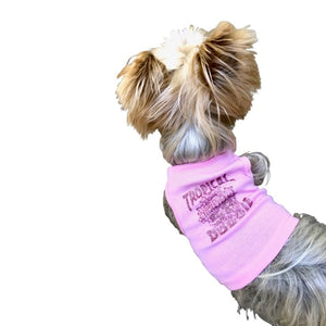 Tropical Dog Tank Top in Pink