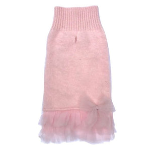 Frilly Tutu Sweater Dress - Blush