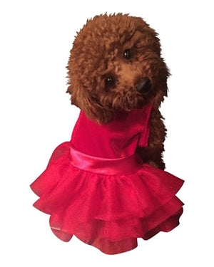 Holiday Party Girl Red Velvet Fufu Tutu