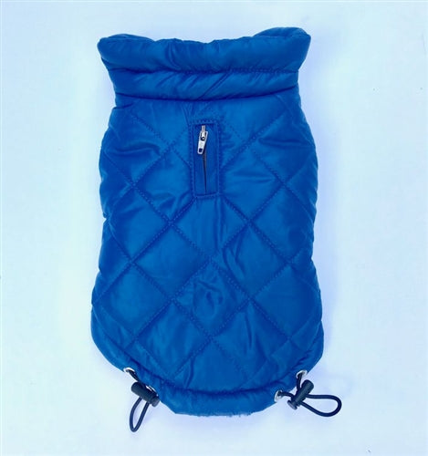 Coco Diamond Puffer Coat - Blue