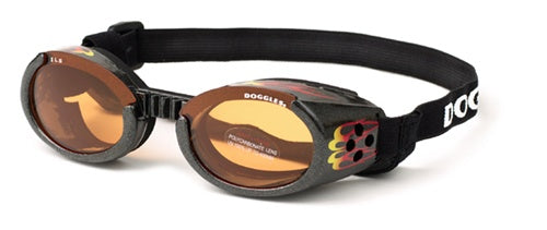 Doggles ILS with Racing Flames with Orange Lens