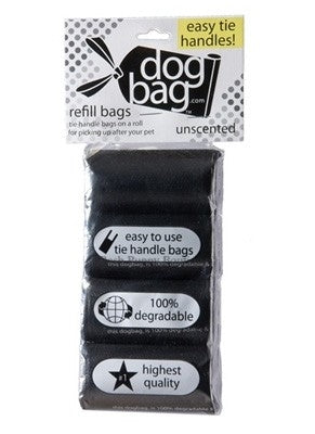Duffel Refill Tie Handle Waste Bags-Black-Unscented