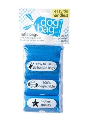 Duffel Refill Tie Handle Waste Bags- Blue-Baby Powder Scented