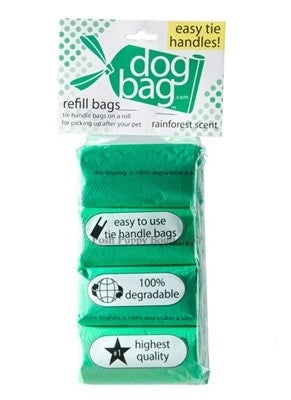 Duffel Refill Tie Handle Waste Bags- Green-Rain Forest Scented