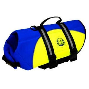 Neoprene Doggy Life Jacket - Blue & Yellow