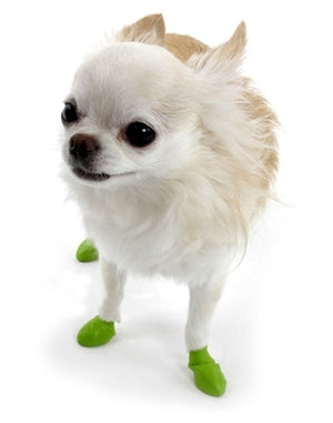 Disposable-Reusable Dog Boots in Tiny Lime Green