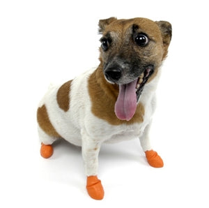 Disposable-Reusable Dog Boots in XSmall Orange